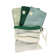 Set of 3 Muslin double gauze Square towels. A Layette must have. Perfect for feeding, mopping up little spills and great newborn gifts Baby Layette, Light Teal, Newborn Gifts, Bag Storage, Must Haves, Towel, Fabric, Cotton, Design