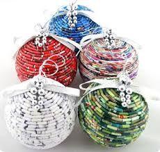 Resultado de imagen para recycled magazine ornaments