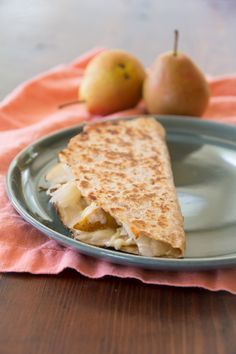 Turkey Reuben Quesadillas with Pear |Healthy Seasonal Recipes @Katie Schmeltzer Webster
