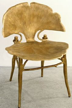 Gingko leaf gilded chair