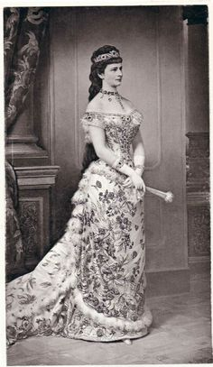 When the giant hoop skirts of the 1860s gave way to the sleeker bustles of the 1870s, Elizabeth was on the forefront of the trend. She loved her hard-won wasp waist. #modcloth #styleicon