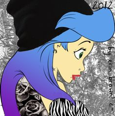 Punk Disney Princesses | Punk disney princess Ariel