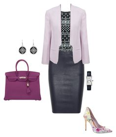"""""""#334"""" by snows22 on Polyvore featuring moda, By Malene Birger, French Connection, Ted Baker, Hermès e Cartier"""
