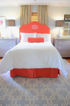 Bellissimo and Bella: Spa Blue, Coral, and Gray: A Teen Dream Room