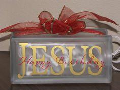 Happy Birthday Jesus Christmas block