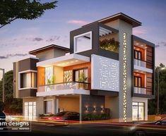 House Design Contemporary Architecture Ideas For 2019 Modern Exterior House Designs, Modern House Plans, Modern House Design, Contemporary House Designs, Bungalow House Design, House Front Design, House Elevation, Villa Design, Facade House
