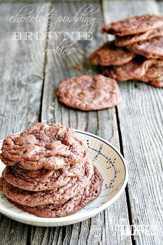 Chocolate Pudding Brownie Cookies - heathersfrenchpress.com #cookies