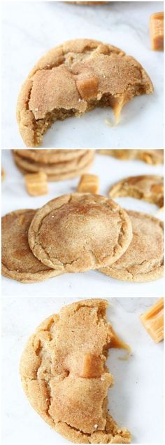 Brown Butter Salted Caramel Cookie Recipe on twopeasandtheirpod.com The BEST cookies you will ever eat!