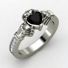 Claddagh ring - black onyx w/ diamonds  For the dark hearts among us... =P