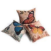 Set of 3 Country Butterfly Decorative Pillow ..