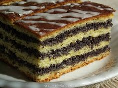 Makowiec warstwowy - kuchnia podkarpacka Poke Cakes, Lava Cakes, Baking Recipes, Cake Recipes, Dessert Recipes, Pineapple Coconut Bread, Keks Dessert, Custard Cake, Traditional Cakes