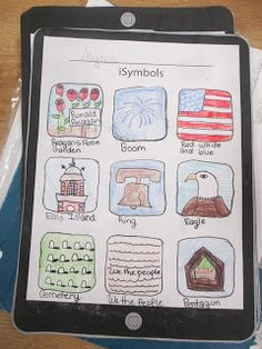 iSymbols... great way for students to create mnemonic depictions for reference and review. Fact sheets go with for students to pick out important info and can use to study from! I love it!