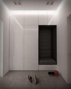 Mógłbym sie dowiedzieć jakie wymiary ma ta szafa i siedzisko oraz jaka cena? House Design, Foyer Design, Room Design, House Interior, Modern Entryway, Home Entrance Decor, Mudroom Entryway, Closet Design, Home Decor Furniture