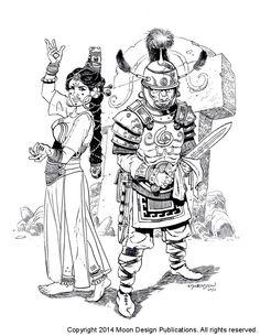 Ernalda priestess and Orlanthi Warrior