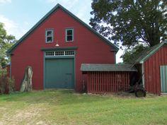 Classic New England barn at DeMeritt Hill Farm.