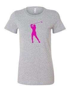 ec7c9c0b #Women's #golf #tshirt by Chick9Clothing on Etsy #grey #pink Golf Bags