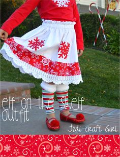 Jedi Craft Girl: Elf on the Shelf Outfit