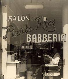 GODFREY FRANKEL: Puerto Rico Barberia, 1947 - vintage gelatin silver print