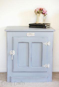 white furniture paintWhite Clad End Table Makeover  DIY furniture Paint furniture and