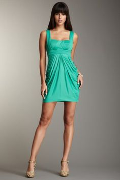 turquoise semi- formal bridesmaid dress little more blue would be good though!