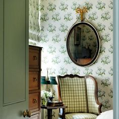 Explore our small bedrooms gallery, including this bedroom covered in Colefax and Fowler chintz.