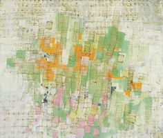 "mark bradford, 2003, mixed media on canvas, 72"" x 84"" http://www.pinocchioisonfire.org/"
