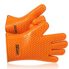 MaxyLife Supreme Silicone Heat-resistant BBQ Grill Oven Gloves for Barbecue, Oven, Grill, Baking, Smoking and Cooking Pair Orange) - I Cook Different Grill Oven, Bbq Grill, Barbecue, Grilling, Camping Gifts, Camping Meals, Camping Recipes, Camping Cooking Equipment, What's My Favorite Color