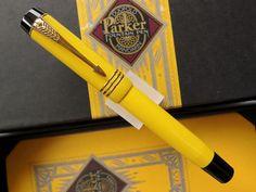 PARKER DUOFOLD Mandarin Yellow Limited Edition Fountain Pen - 1995 ...