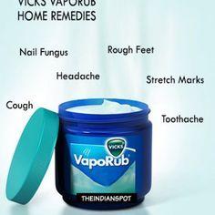 Vicks vaporub home remedies