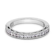 Platinum and Diamond Wedding Band by Tacori - wedding band.