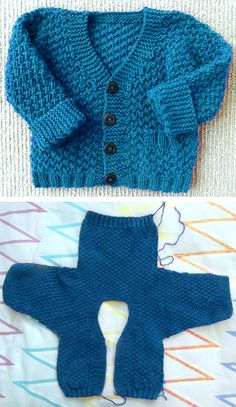 Crochet Baby Cardigan Free Pattern, Baby Cardigan Knitting Pattern Free, Kids Knitting Patterns, Baby Sweater Patterns, Knitted Baby Cardigan, Knit Baby Sweaters, Knitted Baby Clothes, Baby Hats Knitting, Knitting For Kids