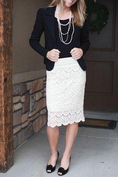 Crochet Style Lace Skirt