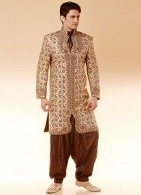 Indo western suit style wedding embroidered Sherwani
