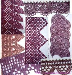 ergahandmade: Crochet Edgings  Diagrams