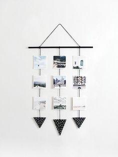 DIY: colgante de pared con fotografías | Decoración