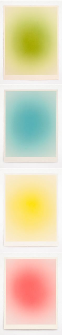 """macarena ruiz-tagle (acrylic on paper from her """"atmosphere"""" series) these are the happy/energized pieces"""