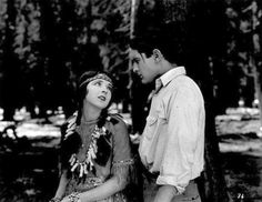 """Colleen Moore, Lloyd Hughes, in """"The Huntress"""" (1923)"""