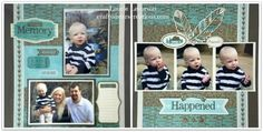 Scrapbook layout using Jackson paper by Close To My Heart