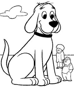 dog colouring pages for kids
