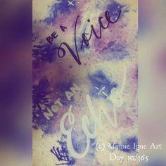 """Be a Voice. Not an Echo."" Day 10/365 #artjournalchallenge  #inspire365 #MinnieIgneArt #mixedmediaartist #artist #artjournal #artjournaling #inspirequotes #watercolor #handwritten #calligraphy #typography #hawaiibornartist #caliartist #hawaiiartist #liftupothers #inspiringthroughcreativity"