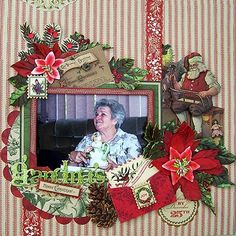 "Anna Griffin ""Calisto Christmas"" scrapbook layout"