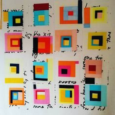 """Crazy loud colours, large text prints...I think I've found my quilting """"niche"""". Would be happy working on this for days.. #neoncabins #modernquilt #ilovecolour #colourlove #modernlogcabin #happysewing"""