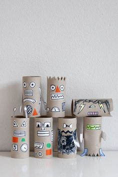 Fun, easy crafts for kids of all ages using toilet paper rolls.