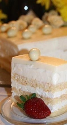"Торт ""Опера в белом"" рецепт с фото - protvin.ru"
