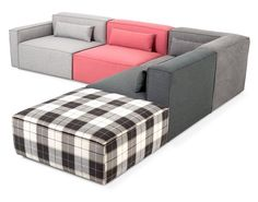 #ProductOfTheDay: The contemporary five-piece Mix #Modular #sectional by @gusmodern is designed to mix and match a wide variety of #upholstery combinations ($4792). gusdesigngroup.com #modern #homedecor #homefurnishings #homeaccents #furniture #interiordesign #design #seating by homeaccentstoday