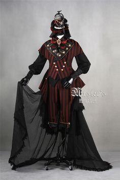 Classical Puppets -Master's Ouji Lolita Full Sett [--Blouse + Vest + Pants + Trailing--] - 3 Styles