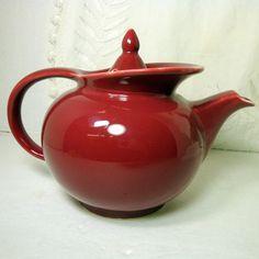 Lovely red ceramic teapot