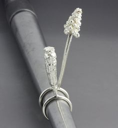 Sterling Silver Botanical Flower Ring Set: Sarah Hood: Silver Rings - STUDIO SALE | Artful Home