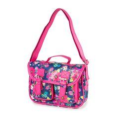 Kids Glitter Floral Print Satchel Handbag   Claire's