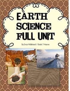 Earth Science Unit Everything you need to introduce your middle school class to Earth Science.